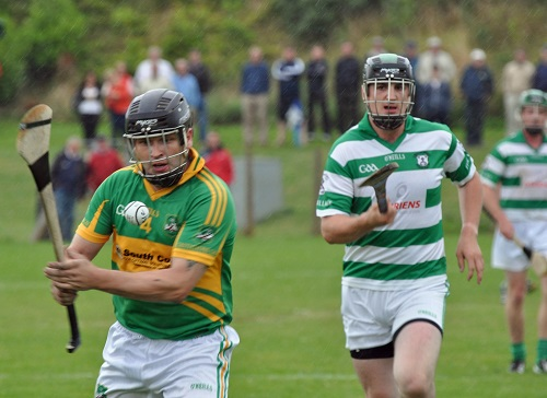 Mark Murphy clear his lines in the JBHC V Dungourney