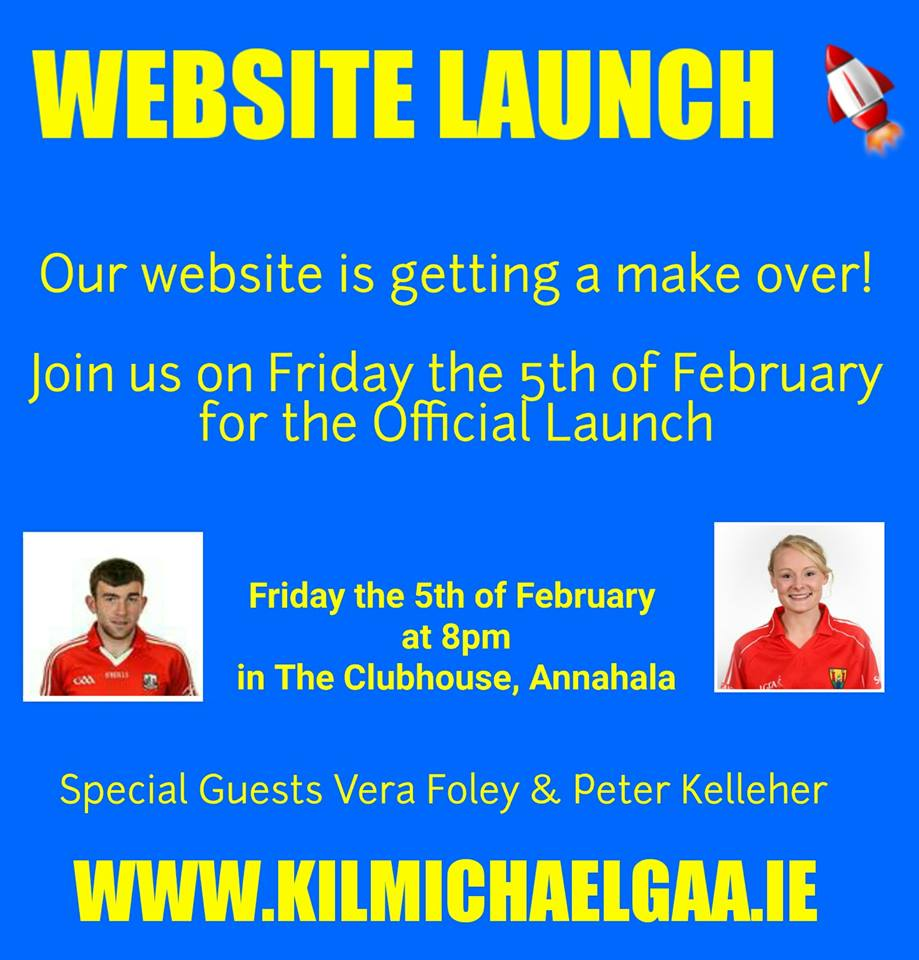 Vera Foley & Peter will launch our new look website on Friday the 5th of February @ 8pm in Annahala. Everyone Welcome!