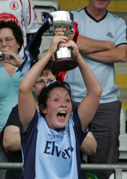 Shona Barrett With Cup after Minor All Ireland Win