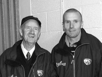 Caretaker P. Carroll, Groundsman C. McEvoy