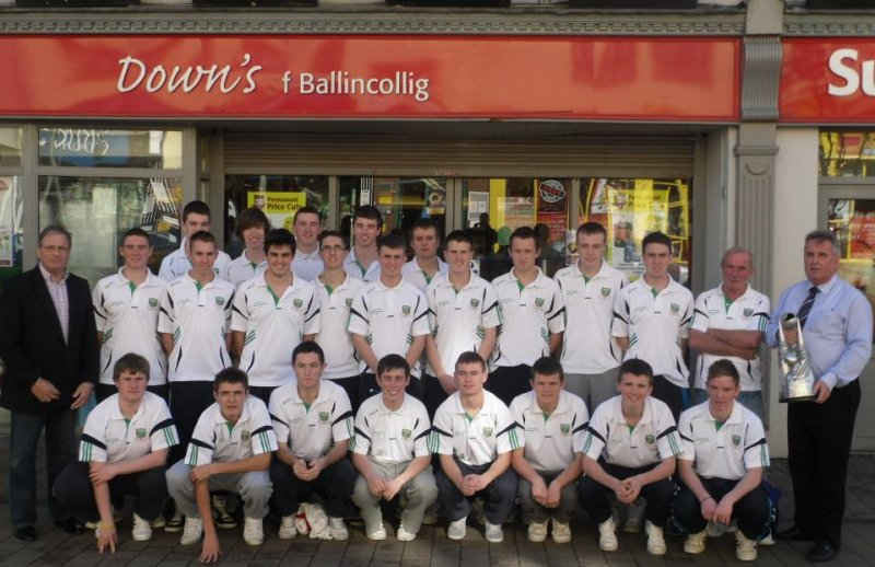 Barry Down with Ballincollig GAA Minor County Champions 2011