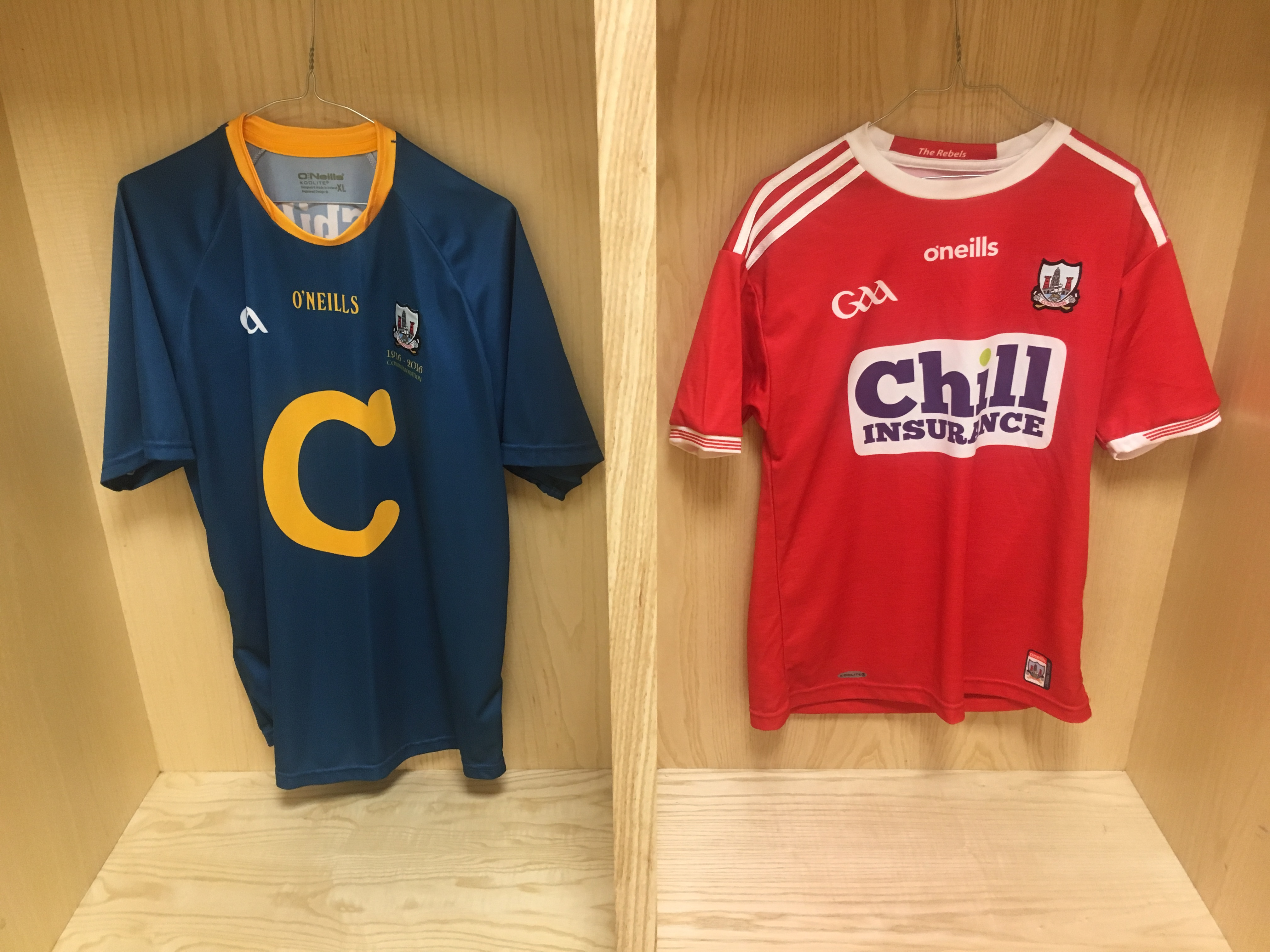 74e0ac9f In 2016, to mark the centenary on the 1916 rising the Cork hurlers wore a  replica of original blue and saffron jersey in a national league game  against ...