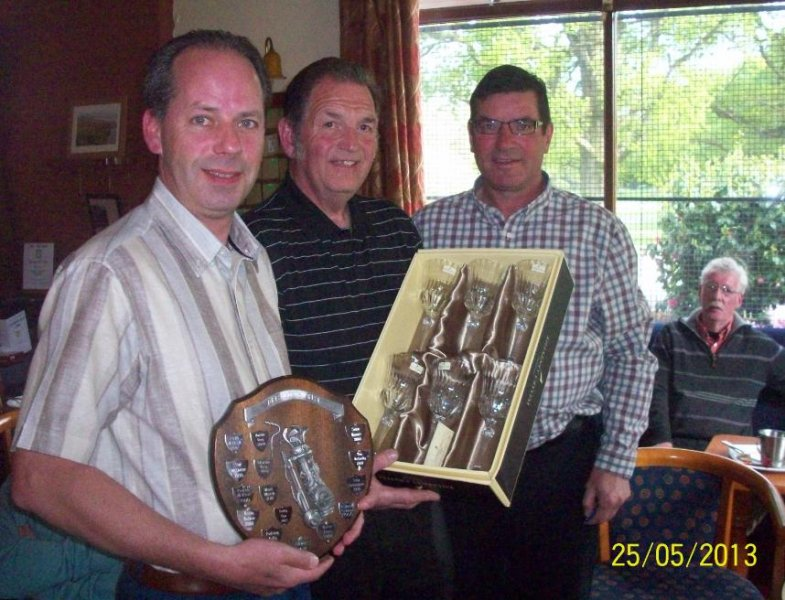 Presentation of President's Shield by Brendan and Peader to winner [2013] Colin. Conrats!