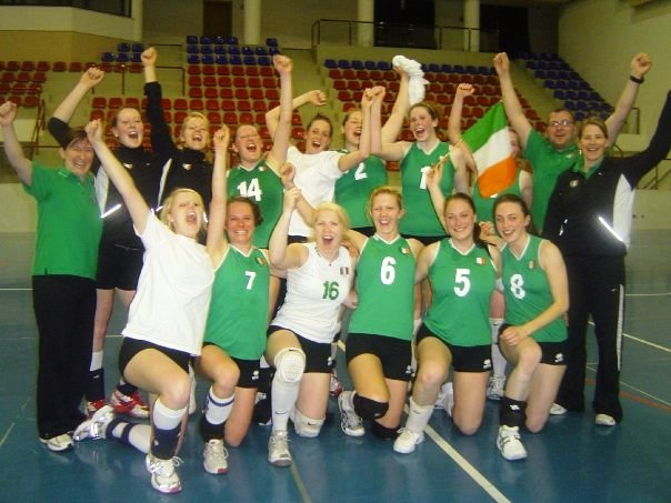 Irish Squad celebrating 3-2 victory over Malta