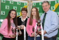 Padraig Power,  Ahane GAA Club made a presentation to Sinead, Breda and Aisling on Limerick's U14 All Ireland Success