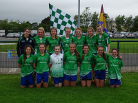 St Ailbes Cailíní Óga Team at the Munster Final