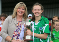 Lauren Ryan, Captain, Receiving the All Ireland U14 Cup