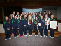 Co U14 Team at the Civic Reception in their Honour