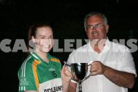 Rovers Captain - Receiving Camogie Cup