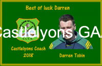 Darren Tobin - Coach for 2018
