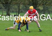 Cian O Leary (red) in action v Lismore