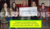 Hegarty Family - Winners of Club Lotto