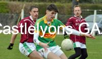 Jack Barry on the ball v Glenbower Rovers