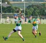 Alan O Regan defending.