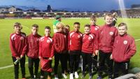 Cork U12 Ballboys at Cork City v Genk
