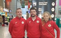 The Cork U15 Squad Management team who flew out with the Squad to the UK today