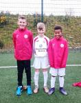 U12 Cork Lions Scorers v Waterford L-R Fionn Crowley 3 Harry Flanagan & Adrian Thiabout