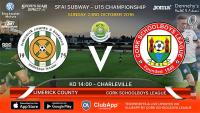 Best of luck to Cork U15s v Limerick Co. in Charleville