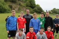 Cork U15 Players with John O'Shea & Glenn Whelan
