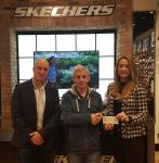 Paul Gallagher MD Skechers & Elaine Murphy Marketing Manager Skechers present sponsorship cheque to the CSL