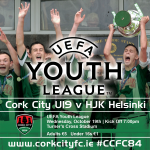 Support our ex CSL players for Cork City v Helsinki