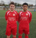 Cork U15 scorers v Kerry Jack Dawson (Midleton) & Brandon Idah (Corinthian Boys)