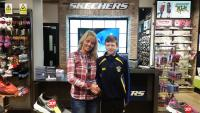 Alan O'Hare (Douglas Hall), Skechers CSL U14 Player of the Month for November with Ewa of Skechers Opera Lane