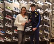 Barry McCarthy (Douglas Hall) the SKECHERS CSL U14 Player of the Month for November