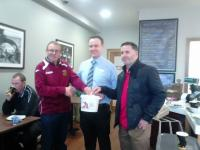 Tramore Athletic donate to charity walk fund
