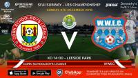 Best of luck to Cork U16s today v WWEC in Leeside Park