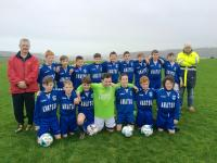 Kinsale U13s who played Macroom in the Oriel House Hotel U13D4