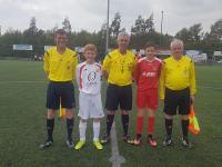 Match officials and captains for U13 SFAI Subway All Ireland semi final Cork v Sligo/Leitrim