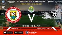 Best of luck to Blackwater Motors sponsored Cork United U12s v West Cork