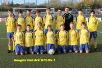 Douglas Hall A U15 Squad 2014/15