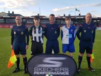 Officials and captains for SFAI Skechers Evan's Cup Final