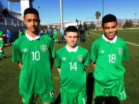 Adam Idah, Adam O'Reilly & Tyriek Wright with Irish U15s in Turkey