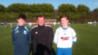Ref Paul Higgins with the team captains before the Skechers U14D1 game between Avondale and Leeds