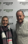 Susanne McNamara Joma & Adrian Ryan Sportsgear Direct pictured at Adrian's new premises in Tramore Road