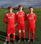 Cork U16 scorers v Waterford Rob Geaney O'Brien & Eoin Redmond (Corinthian Boys) and James O'Leary (2) (St. Mary's)