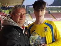 Brian Simpson (Carrigaline United) U15 Dennehy's Health & Fitness Cup Final Man of the Match