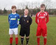 Referee Stephen Wolfe with Cork & WWEC U16 Captains