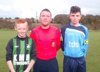 Skechers U14D1 Robert Egan (Mayfield United), Jason Mannix, Kevin Morgan (Avondale United)