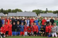 Cork U15 & U16 Players with Irish Senior International Players in Fota