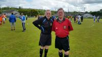 Refs Gerry Hurley and Noel O'Leary - Refs at Cork Football for All Forum Blitz
