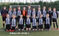 St. Mary's U15 Squad 2014 15