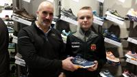 Paul Gallagher Skechers presents Dylan O'Halloran Midleton with his Man of the Match Award