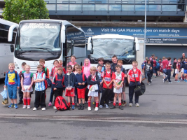 Adrigole u12s arrive at Croke Park