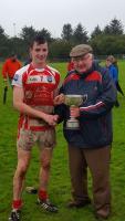 Adrigole Minor Captain receiving Cup 2017