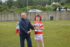 U12 presentation to Adrigole Captain - John L Cup - June 2016
