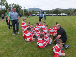 Team Talk at Adrigole U8 Monster Blitz June 2015